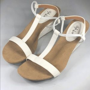 (p263) Style & Co Mulan Wedge Sandals 9M
